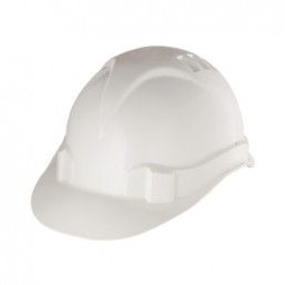 Каска защитная из ударопрочной пластмассы, белая СИБРТЕХ 89114