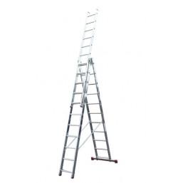 30210344 Ал. лестница Corda  3х11, Н=6,45/7,25м  (010421) Krause