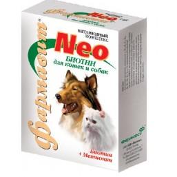 Фармавит НЕО для собак и кошек 90таб биотин