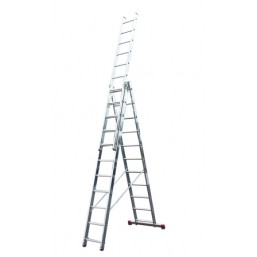 30210343 Ал. лестница Corda  3х10 Н=2,8/4,3/6,15м  (010407) Krause