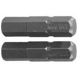 """Биты KRAFTOOL """"ЕХPERT"""" торсионные кованые, обточенные, Cr-Mo сталь, тип хвостовика C 1/4"""", HEX6, 25м"""