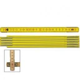 Складной метр Stabila тип 600, деревянный желтый цвет, деление в см и мм на обоих краях метра