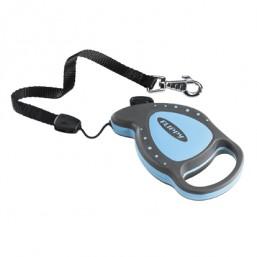 Поводок-рулетка FLIPPY DELUXE CORD MINI  голубой - шнур 8 кг