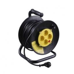 Удлинитель СВЕТОЗАР электрический с заземлением на катушке, евро, 4 гнезда, 50м