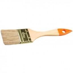 """Кисть флейцевая """"ВЯТКА"""", деревянная ручка, натуральная щетина, индивидуальная упаковка, 20мм"""