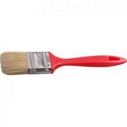 """Кисть плоская STAYER  """"UNIVERSAL-EURO"""", светлая натуральная щетина, пластмассовая ручка, 63мм"""