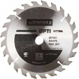 """Диск пильный STAYER MASTER """"OPTI-Line"""" по дереву, 160х16мм, 24Т"""