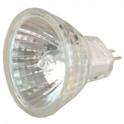 Лампа галогенная СВЕТОЗАР с защитным стеклом, цоколь GU4, диаметр 35мм, 35Вт, 12В