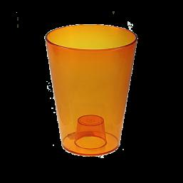 Кашпо Лилия 125х125мм, цвет оранжевый  Польша