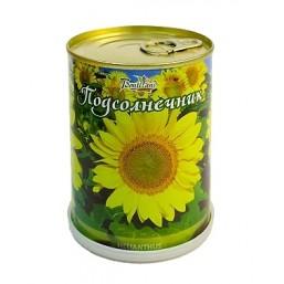 Подсолнечник цветок в банке BONTILAND (метал. банка, универсальный грунт, семена, высота-9,8см, диаметр-7,8см)