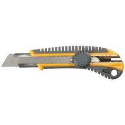 """Нож STAYER """"MASTER"""" двухкомпонентный корпус,серо-желтый,серая кнопка,автостоп,допфиксатор,кассетой н"""