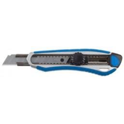 """Нож ЗУБР""""ЭКСПЕРТ"""", двухкомпонентный корпус, с механическим фиксатором, с сегментированным лезвием 18"""