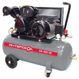 Компрессор воздушный масляный с ременным приводом КВ-430/50  Интерскол Мощность 2,2 кВт, производит