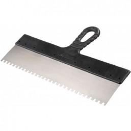 """Шпатель STAYER """"MASTER"""" фасадный зубчатый, стальной с пластмассовой ручкой, 250мм"""