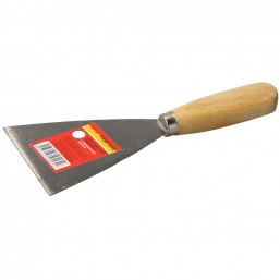 Шпательная лопатка ТЕВТОН c деревянной ручкой, 120мм