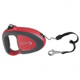 Поводок-рулетка  FLIPPY TECH SMALL красный - шнур 12 кг