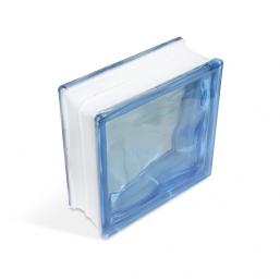 Стеклоблок Cloudy Blue 190х190х80мм, JH011  D G