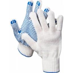 """Перчатки STAYER """"STANDARD"""" трикотажные с защитой от скольжения, 7 класс, х/б"""