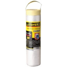 "Пленка STAYER ""PROFI"" защитная с клейкой лентой ""МАСКЕР"", HDPE, 10 мкм, 1,7 х 15 м"