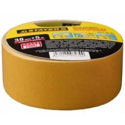 """Лента STAYER """"PROFI"""" клейкая, двусторонняя, на тканевой основе, 38мм х 5м"""