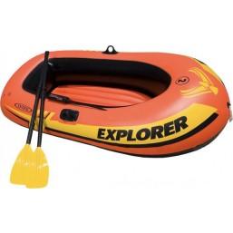 Лодка Explorer 200 двухместная до 95 кг 185*94*41+ 2 аксессуара Intex 58331