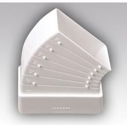 Колено плоское разноугловое пластмассовое Эковент 620КРП