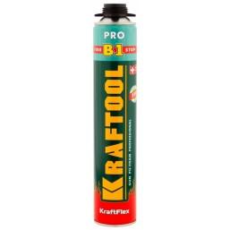 Пена KRAFTOOL KRAFTFLEX PREMIUM PRO B1 профессиональная, монтажная, пистолетная, всесезонная, 750 мл