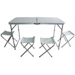 Стол 4 стула 1.2м х0.8м  8818 13803