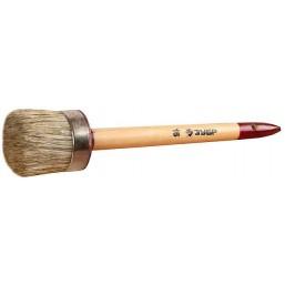 """Кисть круглая ЗУБР """"УНИВЕРСАЛ - МАСТЕР"""", светлая щетина, деревянная ручка, №18х60мм"""