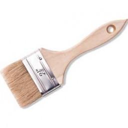 """Кисть флейцевая DEXX """"ПРАКТИК"""" , деревянная ручка, натуральная щетина, индивидуальная упаковка, 63мм"""