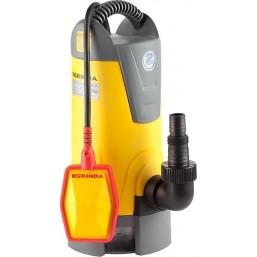 Насос GRINDA д/грязной воды погружной, пропускная способность 13500 л/час, высота подачи воды 8 м, 7