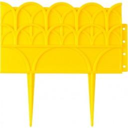 Бордюр декоративный GRINDA для цветников, 14х310см, желтый