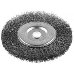 """Щетка ЗУБР """"ЭКСПЕРТ"""" дисковая для точильно-шлифовального станка, витая стальная проволока 0.3 мм, 20"""