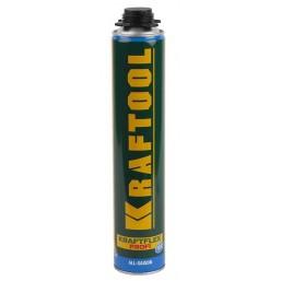 Пена KRAFTOOL KRAFTFLEX PREMIUM PRO профессиональная, монтажная, пистолетная, всесезонная, 750 мл