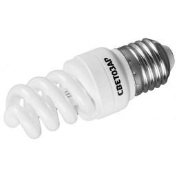 "Энергосберегающая лампа СВЕТОЗАР ""КОМПАКТ"" спираль,цоколь E27(стандарт),Т2,яркий белый свет(4000 К), 15"
