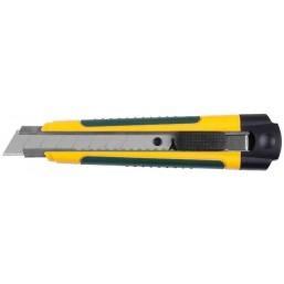 """Нож KRAFTOOL """"EXPERT"""" с сегментированным лезвием, двухкомп корпус, автостоп, отсек для хранения запа"""