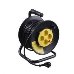 Удлинитель СВЕТОЗАР электрический с заземлением на катушке, евро, 4 гнезда, 40м