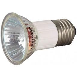 Лампа галогенная СВЕТОЗАР с защитным стеклом, цоколь E27, диаметр 51мм, 50Вт, 220В