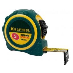 """Рулетка KRAFTOOL """"EXPERT"""" """"GRAND"""", двухкомпонентный корпус, двусторонняя шкала, нейлоновое покрытие,"""