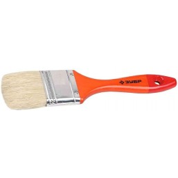 """Кисть плоская  ЗУБР """"УНИВЕРСАЛ-МАСТЕР"""", натуральная щетина, деревянная ручка, 63мм"""