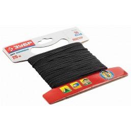 Шнур ЗУБР полиамидный, плетеный, повышенной нагрузки, без сердечника, черный, d 5, 20м