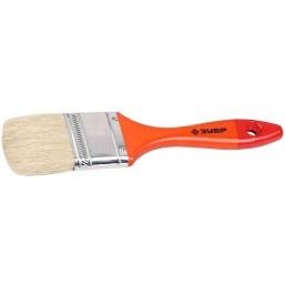 """Кисть плоская  ЗУБР """"УНИВЕРСАЛ-МАСТЕР"""", натуральная щетина, деревянная ручка, 38мм"""
