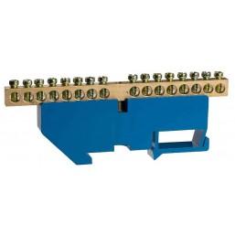 Шина СВЕТОЗАР нулевая на DIN-изоляторе, макс. ток 100А, 5,2мм, 12 полюсов