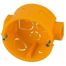 Коробка установочная СВЕТОЗАР для подштукатурного монтажа, макс напряж 400В, межцентр. Расстояние 71мм, 60х40мм, круглая