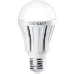 "Лампа СВЕТОЗАР светодиодная ""LED technology"", цоколь E27(стандарт), яркий белый свет (4000К), 220В, 100"