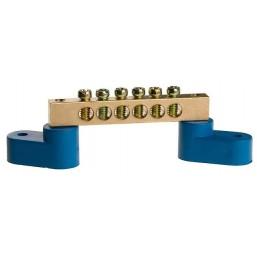 Шина СВЕТОЗАР нулевая на 2-х угловых изоляторах, поворотная,макс. ток 100А, 5,2мм, 6 полюсов