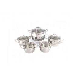 1538 Набор посуды 10пр CANTATA 4кастрюли и сотейник с крышками