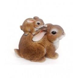 Садовая фигурка Зайчиха мама с зайчонком BJ092477(5)  GS