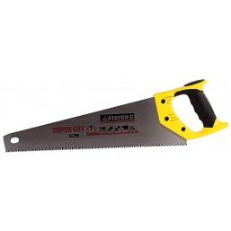 "Ножовка STAYER ""MASTER"" ""SUPER CUT"" по дереву, 2-комп. пластик ручка, 3D-заточка, закаленный зуб, 45"