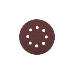 """Круг шлифовальный ЗУБР """"МАСТЕР"""" универсальный, из абразивной бумаги на велкро основе, 8 отверстий, 35562-125-600"""